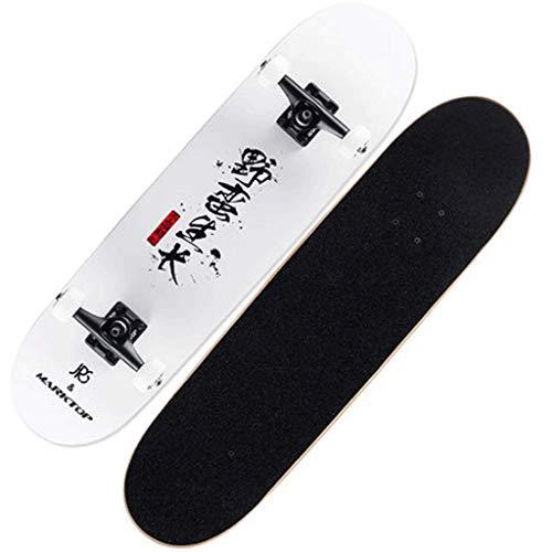 YXD Shortboard Skateboard Bilaterales Schrauml;gbrett Erwachsener Anfauml;nger Ahorn Holz Qualitauml;t Vierrauml;dern Street Skill Skateboard