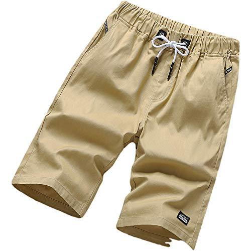 Jubaton Pantalones Cortos para Hombre, Holgados, Informales, Ligeros, de Playa, de Corte Regular, clásicos, básicos, Rectos, con cordón 5XL