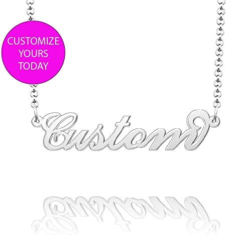 Moonlight Collections Callie Personalized Name Necklace Custom Sterling Silver Jewelry