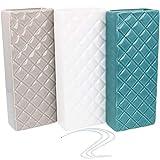 com-four® humidificador de cerámica 3X - evaporador del radiador para humedecer el Aire de la habitación - evaporador de Agua con Ganchos en Forma de S (3 Piezas - Diamante)