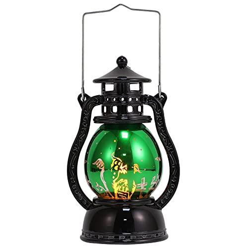 IMIKEYA Halloween Linterna Vintage Murciélago LED de Sobremesa Linternas Lámpara de Aceite...