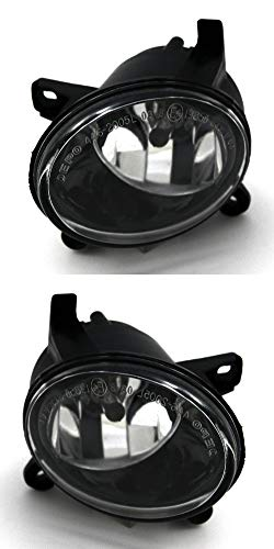 JP Auto Front Fog Light Lamp Compatible With Audi A4 All Road S4 A6 S6 Q5 Hybrid Sq5 2009 2010 2011 2012 Driver Left And Passenger Right Side Pair Set