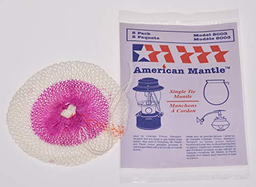 American Mantle Single Tie 300 C.P. String Tie Mantle (for Large Single tie Mantle Lantern as Well as Mr. Heater, Humphrey, Paulin, Falks Indoor Gas Lights with tie on Style Nozzle)