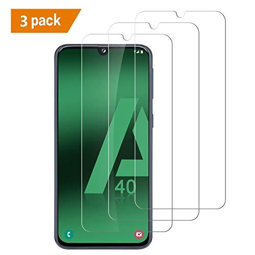 iMEImei Vetro Temperato Samsung Galaxy A40,[3 Pack] Pellicola Protettiva Samsung Galaxy A40,ProCustodia Compatibile,Durezza 9H,HD Alta Trasparenza,No Air Bubbles