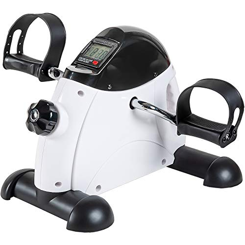 GOREDI Pedal Exerciser Stationary Under Desk Mini Exercise Bike - Peddler Exerciser with LCD...