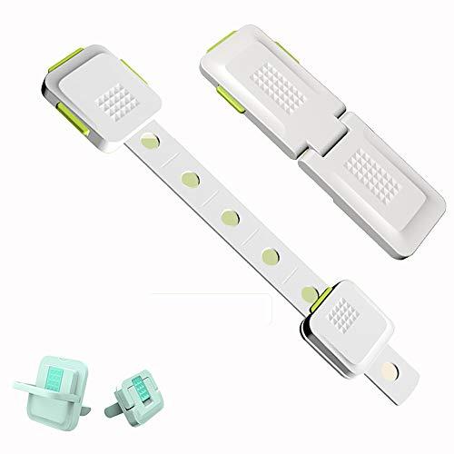 DEWUFAFA Sécurité des Enfants Armoire Locks for Preuve bébé Armoires Tiroirs appareils Siège de Toilette réfrigérateur et Four, Facile supplémentaire Installer, sans Outils (Color : C)