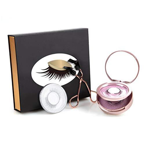 ZY123 Magnetic Eyelashes Curler Set 3D Magnetic Stylish Natural Look Soft Magnetic False Eyelashes with Eyelash Tweezers
