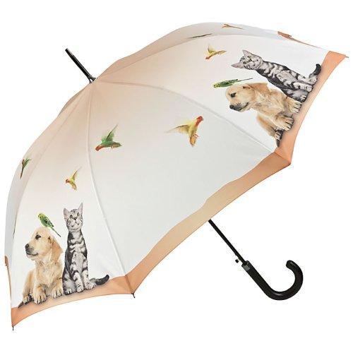 VON LILIENFELD Regenschirm Automatik Damen Vogel Hund Katze Tierleben