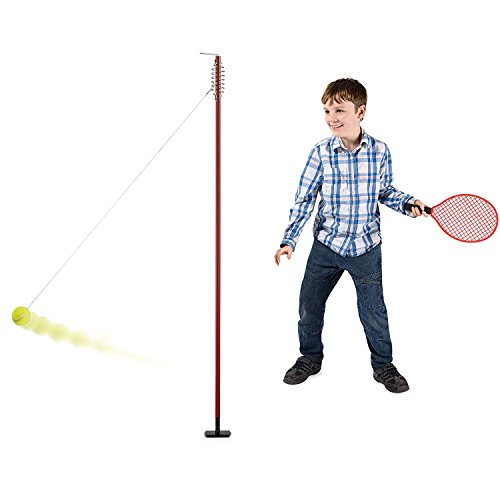 Toyrific Garden Games TY5995 Classic Swing Ball Tennis Set with Rackets