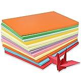 Cartulina de color A4, 100 hojas de papel de colores, cartulina de papel de origami de colores surtidos, 210 * 297 mm para dibujar, cortar papel, manualidades, tarjetas decoradas e impresión