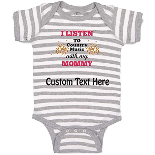 CKS DA WUQ I and My Mother Listen to Country Music Unisex Baby 100/% Cotton Long Sleeve Romper Clothes Outfits