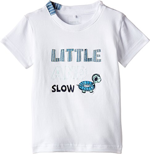 Name It Ikaros NB So SS Top 215 T-Shirt, Blanc (Bright White), FR: 2 Mois (Taille Fabricant: 56) Bébé garçon