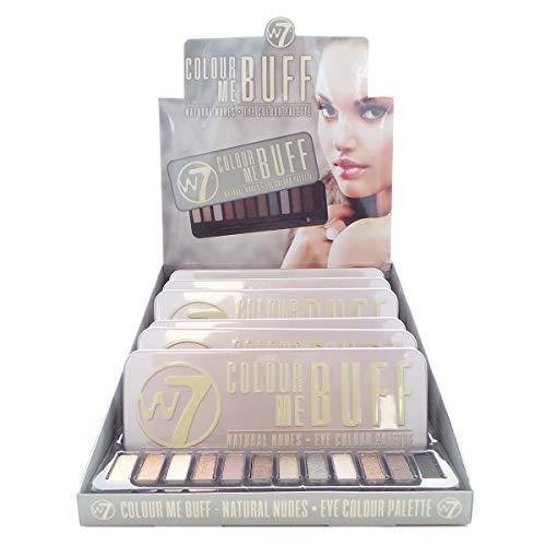 W7 Colour Me Buff Natural Nudes Eye Colour Palette Display Set, 6 Pieces Plus Display Tester