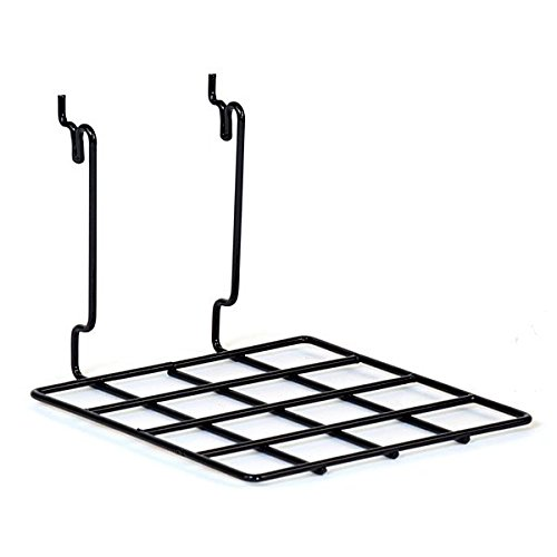 Flat Shelf fits Slatwall Grid Reservation Pegboard in x Inch W D Large special price !! Black 8