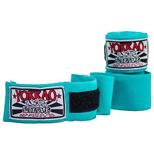 Yokkao - Fasce Elastiche per Le Mani, per Muay Thai, Boxe, Kickboxing, K1, Azzurro, Taglia Unica