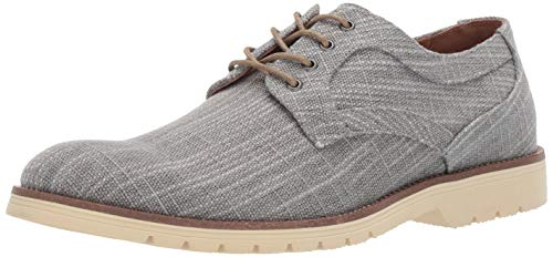 STACY ADAMS mens Eli Textured Canvas Lace-up Oxford, Grey, 11 US