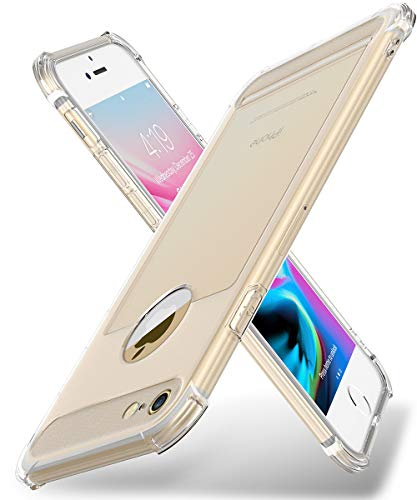 iPhone 6S/6 Case with Card Holder and [ Screen Protector Tempered Glass x2Pcs] SUPBEC Protective Ultra-Thin-Slim Cover with Silicone TPU Shockproof Rubber Wallet Case for iPhone6 / iPhone6S-Clear