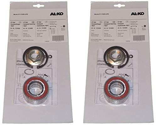 FKAnhängerteile 2 x ALKO Radlager 1224800 Lager 60/30x37 mm + Zubehör - Kompaktlager Ecolager