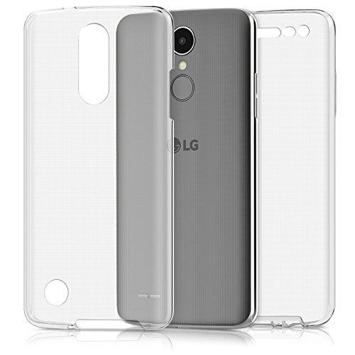 kwmobile Funda para LG K8 (2017) - Carcasa Completa 360 de Silicona para móvil - Cover Doble Transparente