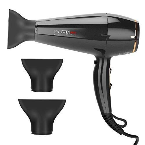 PARWIN PRO BEAUTY 1875W Hair Dryer 2 Speed 3 Heat Settings Professional Super Negative Ion Powerful Fast Dry Blow Dryer, Ceramic Quiet Black