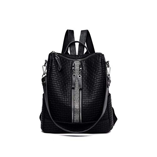 Nieuwe damesrugzak casual art en weisemädchen-schouder tas eenvoudige getijdenspeelruimte handtas zwart, grote capaciteit, multifunctionele stragen