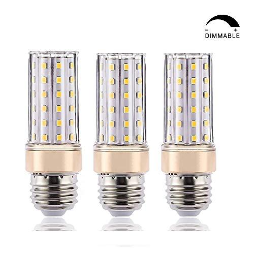 ILAMIQI E27 LED-Leuchtmittel, dimmbar, 10 W LED Kerzenleuchter, entspricht 100 Watt, 1200 lm, Led Leuchtmittel, Warmweiß 3000 K, flackerfrei, röhrenförmig, 3 Stück