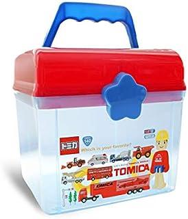 Queta-Cartoon Boîte de rangement d'enfant-Organisateurs pratique pour jouets-Coffret à Jouets avec couvercle et poignée-Ba...
