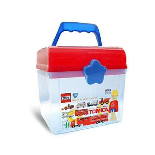 Queta Caja de almacenamiento de juguetes para niños con tapa Caja de almacenamiento de dibujos animados de plástico Caja de almacenamiento cuadrada con cierre de clic