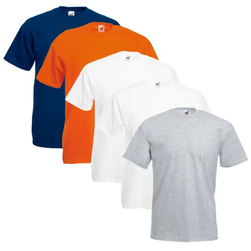 Fruit of the Loom Original T Logo Men s T-Shirt, Pack of 5 -  - XX-Large