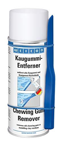WEICON kauwgumverwijderaar spray 400 ml, koudespray tegen kauwgom enz. op kleding vloer kunststof tapijt auto enz.