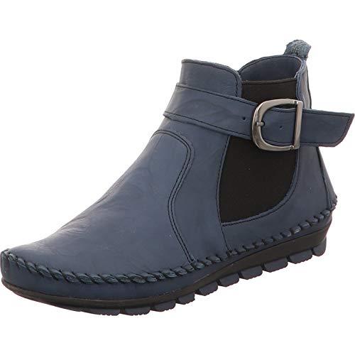 Gemini Damen Stiefeletten Stiefel Leder 031010-01, Größe:37 EU, Farbe:Blau