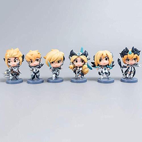 NoNo S8 Weltmeisterschaft IG Haut Fiora Camille Rakan Leblanc Kai Sa Irelia Figur Aktion Figur 3.9inch Anime Modell Skulptur Sammlung Geschenk