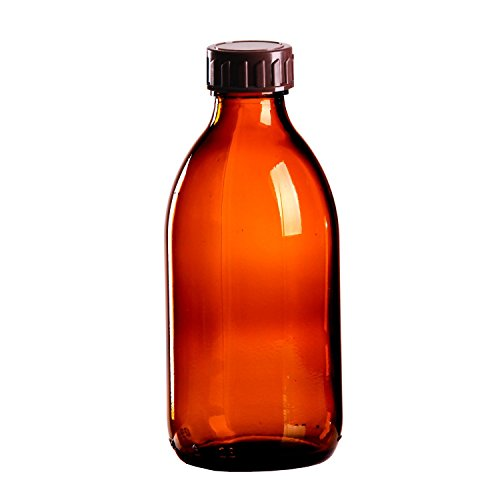 10 x Braunglasflasche 250ml / Medizinflasche inkl. Standard-Schraubverschluss braun DIN 28