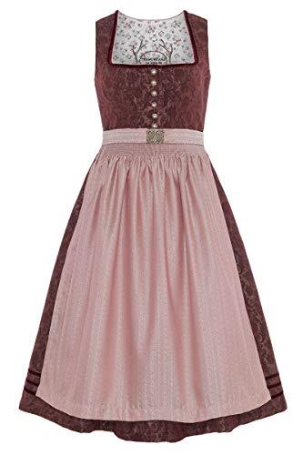 Tramontana Damen Midi Dirndl Bordeaux rosa, 3133-BORDEAUX/ROSA, 32