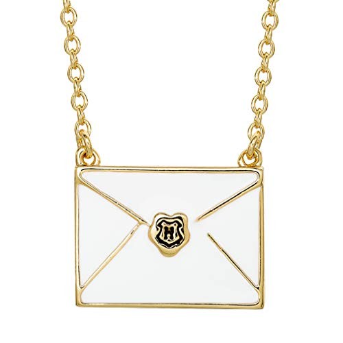 "HARRY POTTER Muggle Mail Gold Plated Envelope Necklace, 18"" Chain"