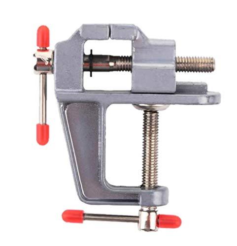 万力 卓上バイス ポータブルベンチ万力 小型 ミニテーブルクランプ 簡単取付 アルミ製 (0-30mm)