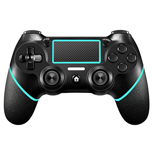 PS4 Controller【Upgraded Version】 ORDA Wireless Gamepad for Playstation 4/Pro/Slim/PC(7/8/8.1/10) with Motion Motors and Audio Function, Mini LED Indicator, USB Cable and Anti-Slip - Berry Blue