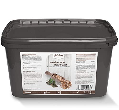 AniForte Weidenrinde geschnitten für Pferde 1,5kg - Naturprodukt aus Silberweide Rinde, Unterstützung Gelenke, Immunsystem & oxidativen Stress, wichtiger Pflanzenstoff Salicin