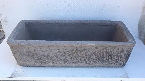 ARTISTICA GRANILLO Spülbecken aus Beton und Lavastein aus Vesuvio, Waschbecken, Brunnen, Maße: 80 x 40 x 20 cm.
