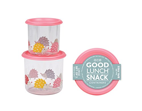 Sugarbooger Good Lunch Large Snack Container, Hedgehog, 2 Count