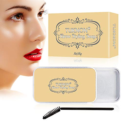 Eyebrow Shaping Soap, Soap Brows, 3D Augenbrauen Make-up Gel, Augenbrauen Styling Seife, mit Pinsel...