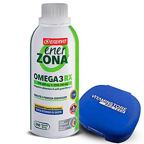 Enerzona Omega 3 RX - 240 pastillas - Incluye pastillero - Suplemento alimenticio a base de aceite de pescado para el control de los triglicéridos - Rico en EPA y DHA