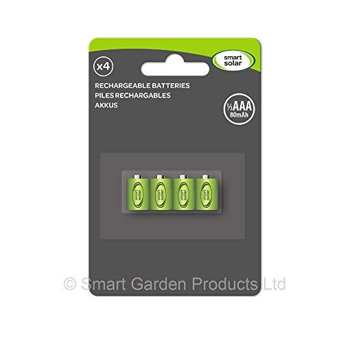 Smart Solar Ersatzakkus 1/3 AAA 80mAh - 4er Pack
