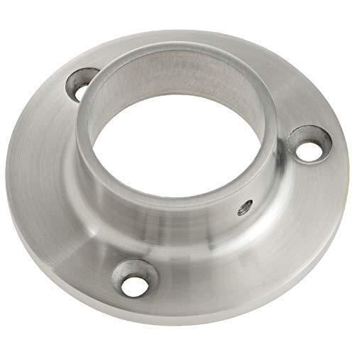 CROSO 70500 Flansch für Rohr ø 42,4 x 2,0 mm, Platten ø 84,5 mm, Edelstahl geschliffen V2A, Silber