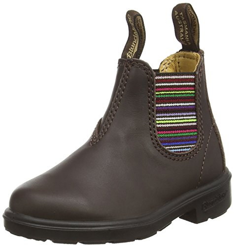 BLUNDSTONE Classic, Stivaletti Unisex, Marrone (Brown/Stripped), 34 EU (Child 2 UK)