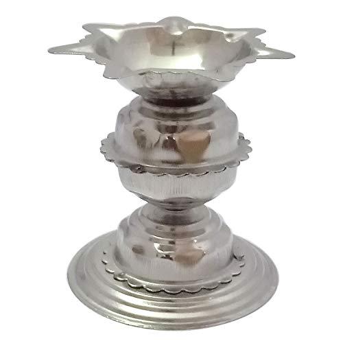 G&D Diyas de Acero Inoxidable para Pooja - Deepak para Puja Aarti - Lámpara de Aceite - Artículos de Pooja Objetos de decoración para el hogar Casa Calentando la decoración Aarti Puja