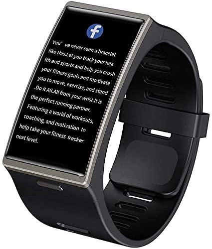 VBF Reloj inteligente DM12 1.9 pulgadas 170 320 SmartWatch 2021 Aplicable a Android iOS IP68 Impermeable Bluetooth 5.0 Sport, (Color: Plata) (Color: Negro)