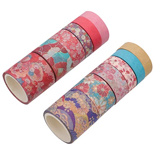 EXCEART 12PCS Christmas Washi Tape Set Christmas-Themed Adhesive Tapes for DIY Craft Scrapbook Decoration Supplies