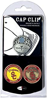 Team Golf NCAA Golf Cap Clip with 2 Removable Double-Sided Enamel Magnetic Ball Markers