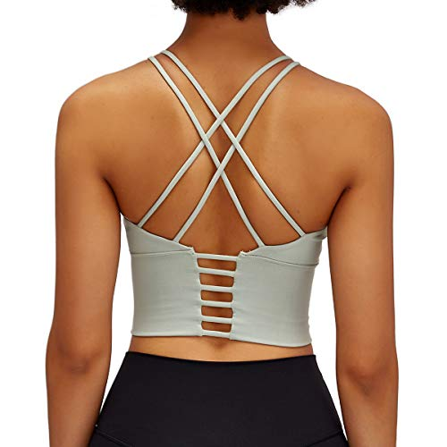 Nanomi Beauty Padded Frauen Sport-BH Workout Laufen Yoga Tops (Blassgrün, Large)